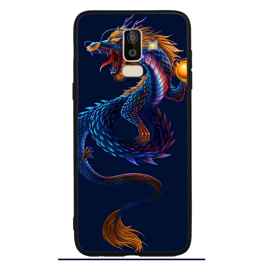 Ốp lưng viền TPU cao cấp cho điện thoại Samsung Galaxy J8 -Dragon 08