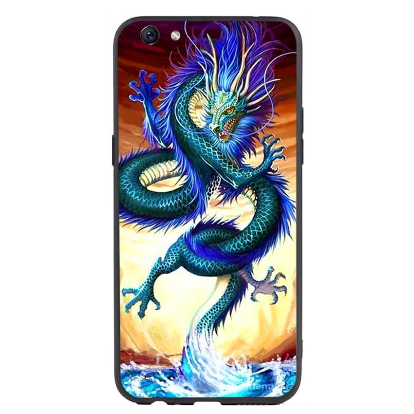 Ốp lưng nhựa cứng viền dẻo TPU cho điện thoại Oppo F3 Plus -Dragon 10