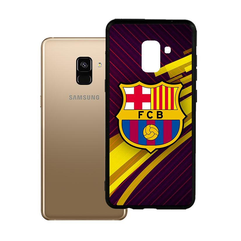Ốp lưng viền TPU cho Samsung A8 2018 Plus - Clb Barcelona 02