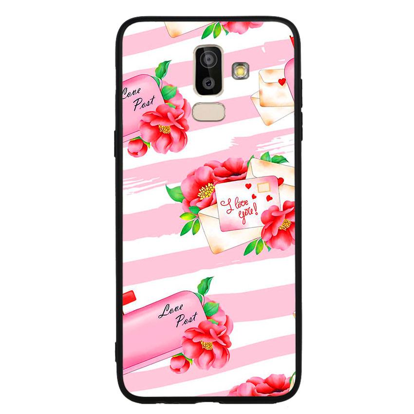 Ốp lưng nhựa cứng viền dẻo TPU cho điện thoại Samsung Galaxy J8 -I Love U 02