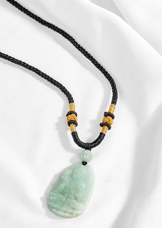 Mặt dây chuyển phật bản mệnh tuổi Ngọ Đại thế chí bồ tát đá Cẩm thạch phỉ thúy Ngọc Quý Gemstones