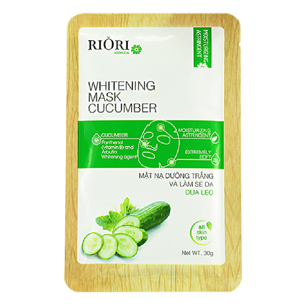 Mặt Nạ Cenllulose Riori Mask Cucumber