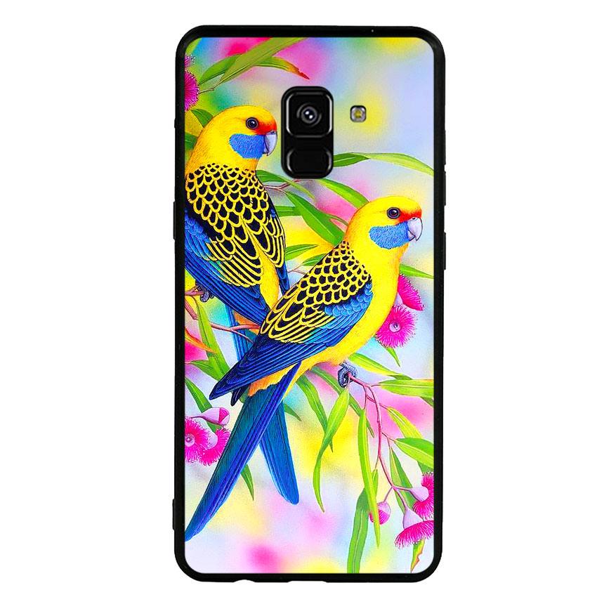 Ốp lưng nhựa cứng viền dẻo TPU cho điện thoại Samsung Galaxy A8 Plus 2018 - Couple Bird