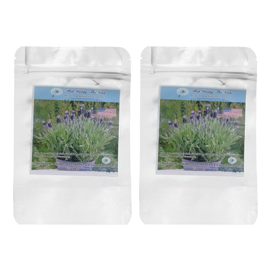 Bộ 2 Túi 10H Hạt Giống Hoa Oải Hương Lavender - French (Lavandula Stoechas)
