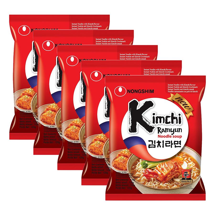 Combo 5 Gói Mì Kim Chi Nongshim (120g / Gói)