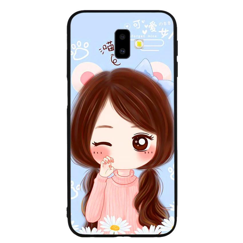 Ốp lưng viền TPU cao cấp cho điện thoại Samsung Galaxy J6 Plus -Baby Girl