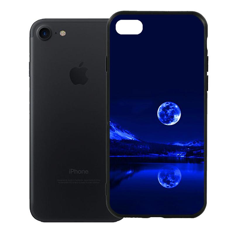 Ốp Lưng Viền TPU Cao Cấp Dành Cho iPhone 7 - Moon 02