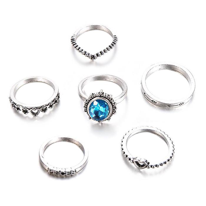 Nhẫn Sapphire Nhân Tạo / Nhẫn Bạc Hình Trái Tim Cho Nữ (6 Cái/Bộ) - 6952834 , 8560424868362 , 62_12868659 , 269000 , Nhan-Sapphire-Nhan-Tao--Nhan-Bac-Hinh-Trai-Tim-Cho-Nu-6-Cai-Bo-62_12868659 , tiki.vn , Nhẫn Sapphire Nhân Tạo / Nhẫn Bạc Hình Trái Tim Cho Nữ (6 Cái/Bộ)