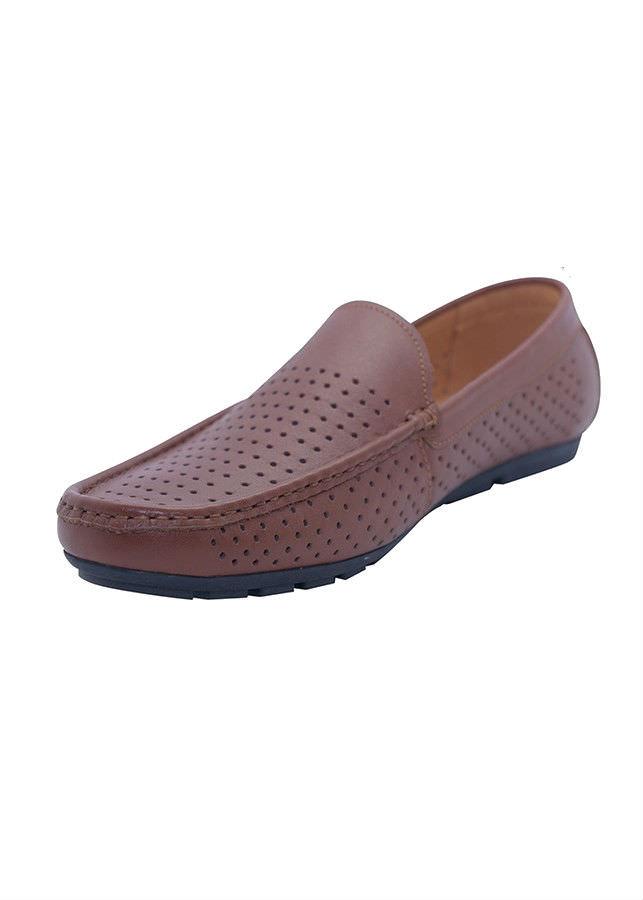 Giày Lười Nam Da Bò G180N - Nâu