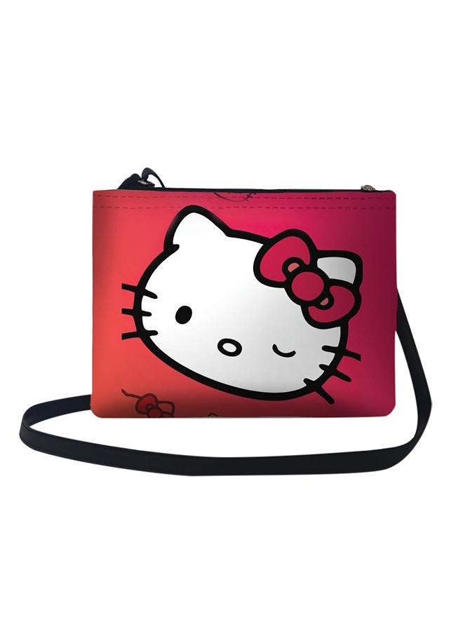 Túi Đeo Chéo Nữ In Hình Hello Kitty Nháy Mắt - TUCT035 (24 x 17 cm)