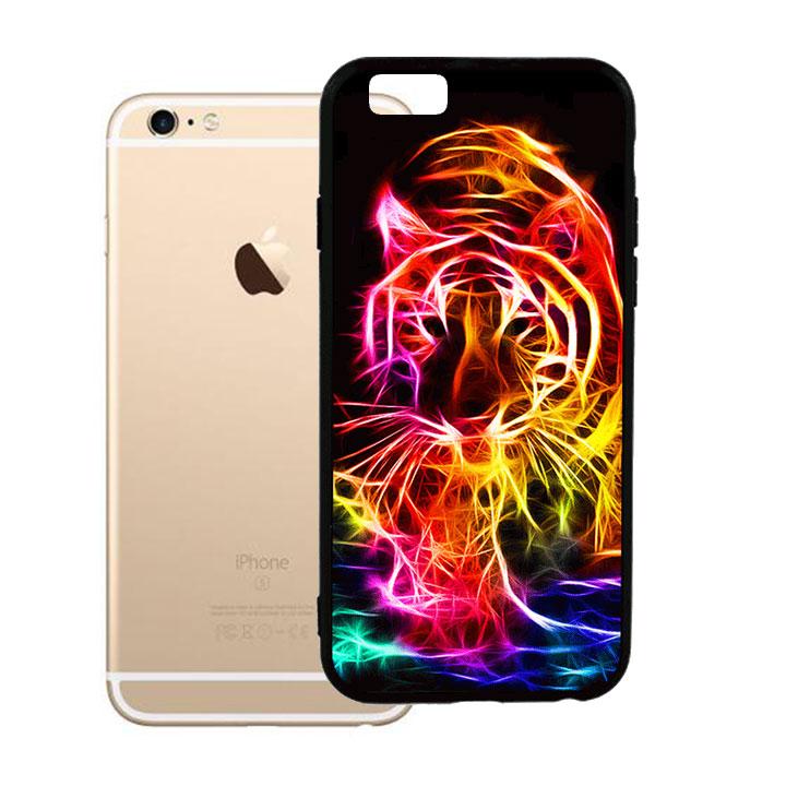 Ốp lưng viền TPU cho Iphone 6 Plus - Tiger 03