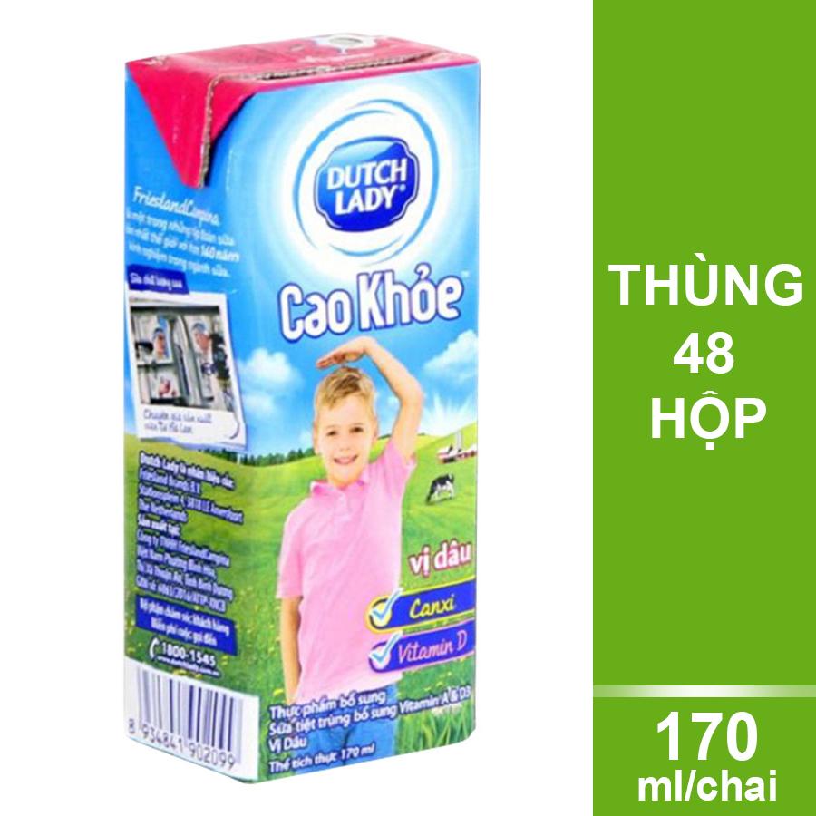 Thùng 48 Hộp Sữa Uống Tiệt Trùng Dutch Lady Vị Dâu Cao Khỏe (170ml/Hộp) - 978333 , 3851103357488 , 62_12678363 , 280000 , Thung-48-Hop-Sua-Uong-Tiet-Trung-Dutch-Lady-Vi-Dau-Cao-Khoe-170ml-Hop-62_12678363 , tiki.vn , Thùng 48 Hộp Sữa Uống Tiệt Trùng Dutch Lady Vị Dâu Cao Khỏe (170ml/Hộp)