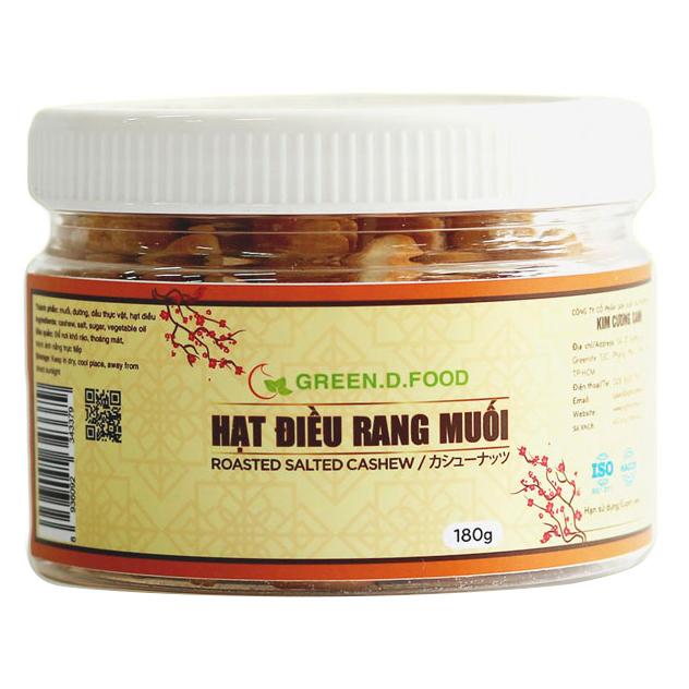 Hạt điều rang muối bóc vỏ thơm ngon, thương hiệu Green.D Food - hũ 180g - 6027923 , 3379490108501 , 62_7938199 , 167000 , Hat-dieu-rang-muoi-boc-vo-thom-ngon-thuong-hieu-Green.D-Food-hu-180g-62_7938199 , tiki.vn , Hạt điều rang muối bóc vỏ thơm ngon, thương hiệu Green.D Food - hũ 180g