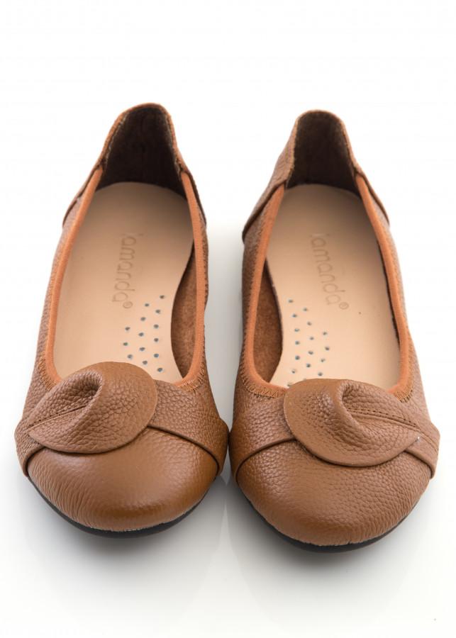 Giày Búp Bê Lamanda Cổ Điển Da Bò 100% BB002