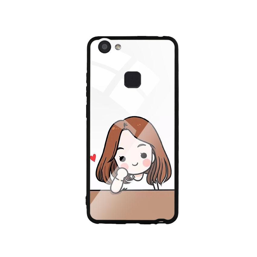 Ốp Lưng Kính Cường Lực cho điện thoại Vivo V7 Plus - Couple Girl 03