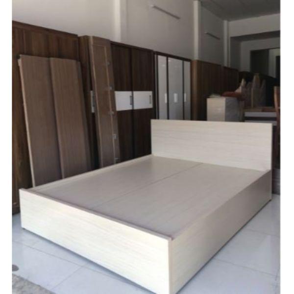 Giường Ngủ Gỗ MDF Melamine 1m6x2m Màu Lim
