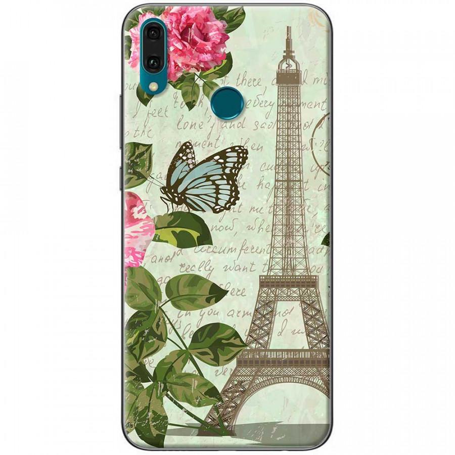 Ốp lưng dành cho Huawei Y9 2019 mẫu Tháp Effiel con bướm