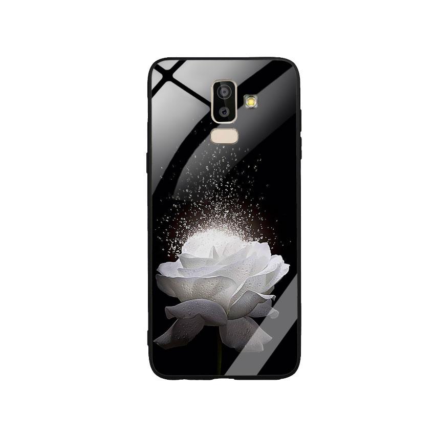 Ốp Lưng Kính Cường Lực cho điện thoại Samsung Galaxy J8 -  0324 ROSE03