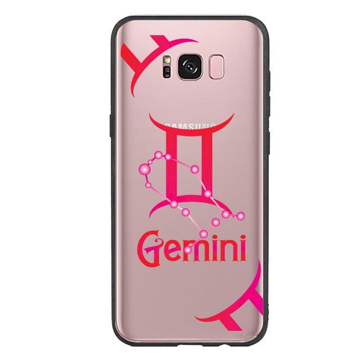 Ốp lưng Cho Điện Thoại Samsung Galaxy S8 Plus viền TPU cung Song Tử - Gemini