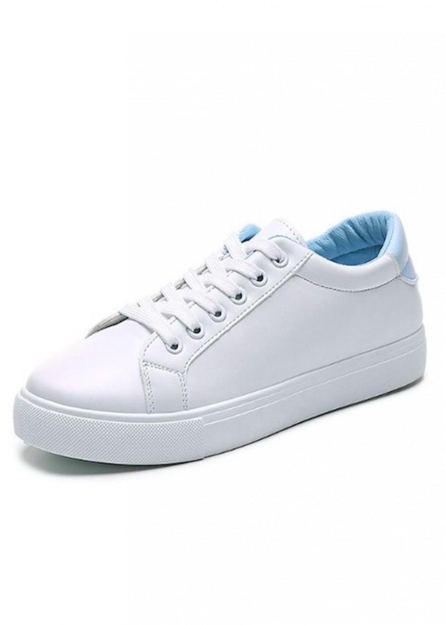 Giày thể thao da cao cấp siêu mềm màu trắng GTT8300