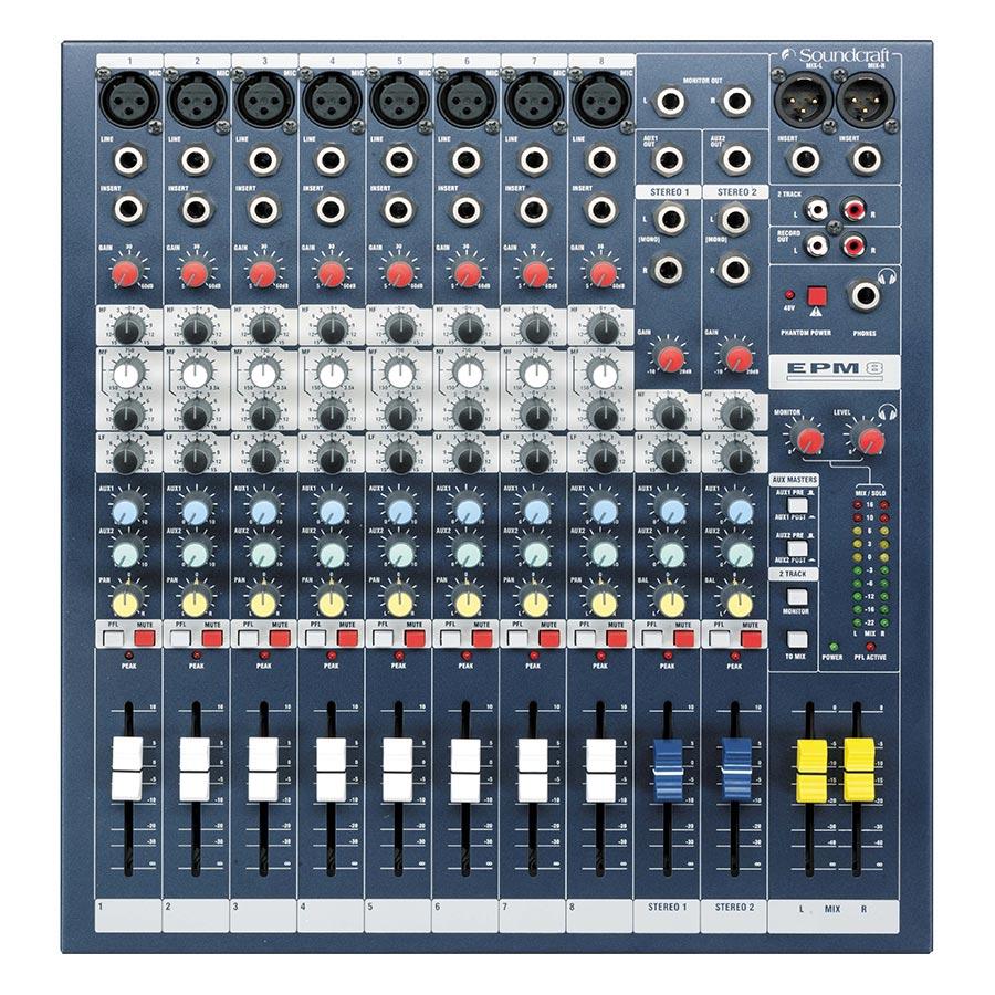 Bộ Trộn Âm Thanh Soundcraft EPM8CH Console