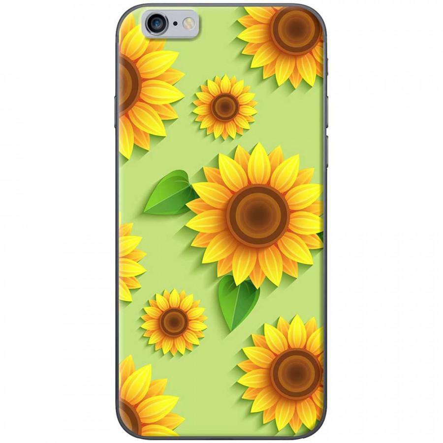 Ốp lưng  dành cho iPhone 6, iPhone 6s mẫu Hoa hướng dương