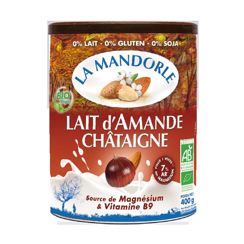 Thùng 6 hộp sữa bột hạnh nhân hạt dẻ hữu cơ La mandorle 400g