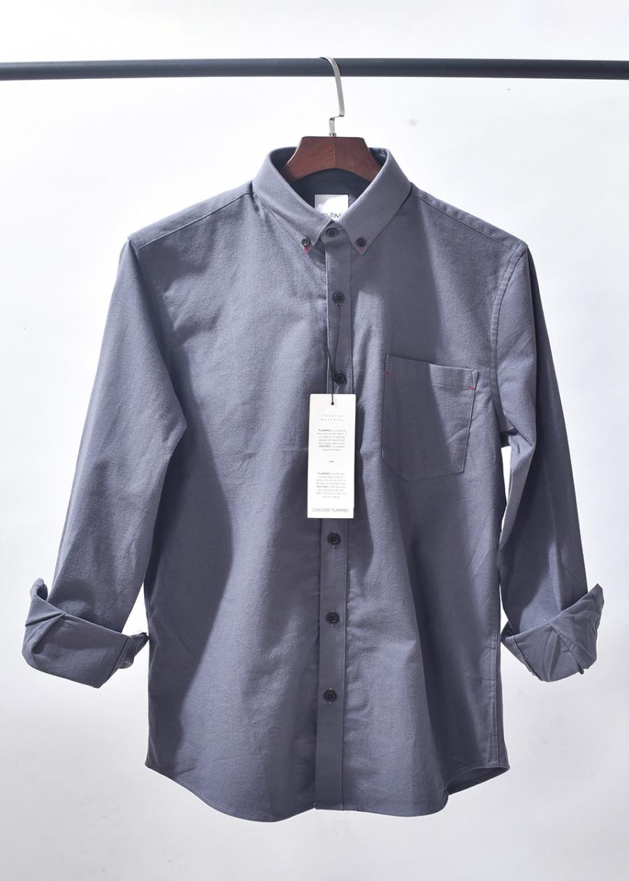 Áo sơ mi nam Oxford dài tay cổ bẻ có túi ngực vải cotton nhập khẩu Hàn Quốc hãng thời trang nam Routine - 9503647 , 6146250232915 , 62_16178068 , 450000 , Ao-so-mi-nam-Oxford-dai-tay-co-be-co-tui-nguc-vai-cotton-nhap-khau-Han-Quoc-hang-thoi-trang-nam-Routine-62_16178068 , tiki.vn , Áo sơ mi nam Oxford dài tay cổ bẻ có túi ngực vải cotton nhập khẩu Hàn Qu