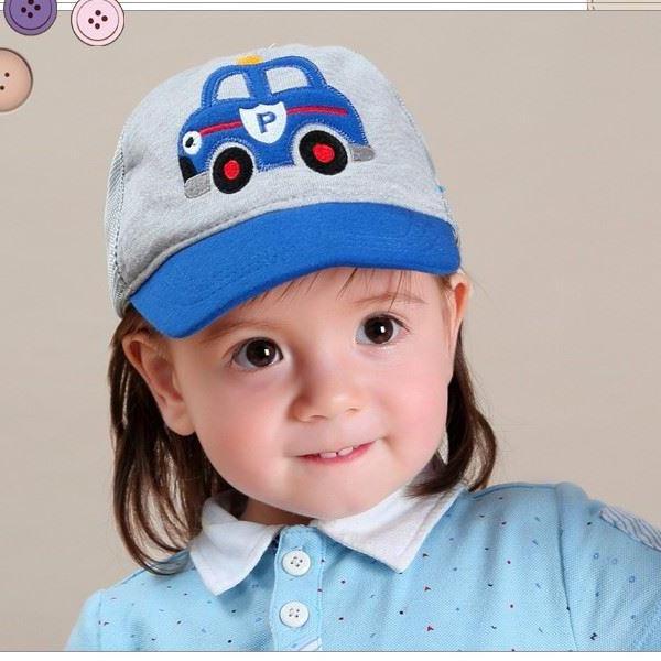 Mũ lưỡi trai ghi xanh lưới oto xanh cho bé từ 1 đến 7 tuổi