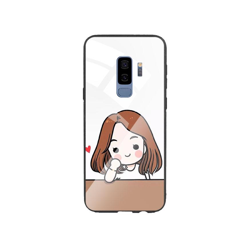 Ốp Lưng Kính Cường Lực cho điện thoại Samsung Galaxy S9 Plus - Couple Girl 03