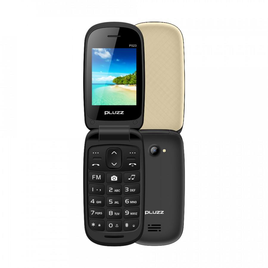 PLUZZ P523 Feature Phone Flip Keyboard Phone Portable Dual SIM 2.4 Inch FM 2G GSM 750mAh MP3 MP4 LED Flashlight