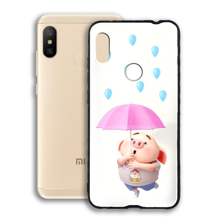 Ốp lưng viền TPU cho điện thoại Xiaomi Redmi Note 6 pro - 02082 0523 PIG26 - Hàng Chính Hãng