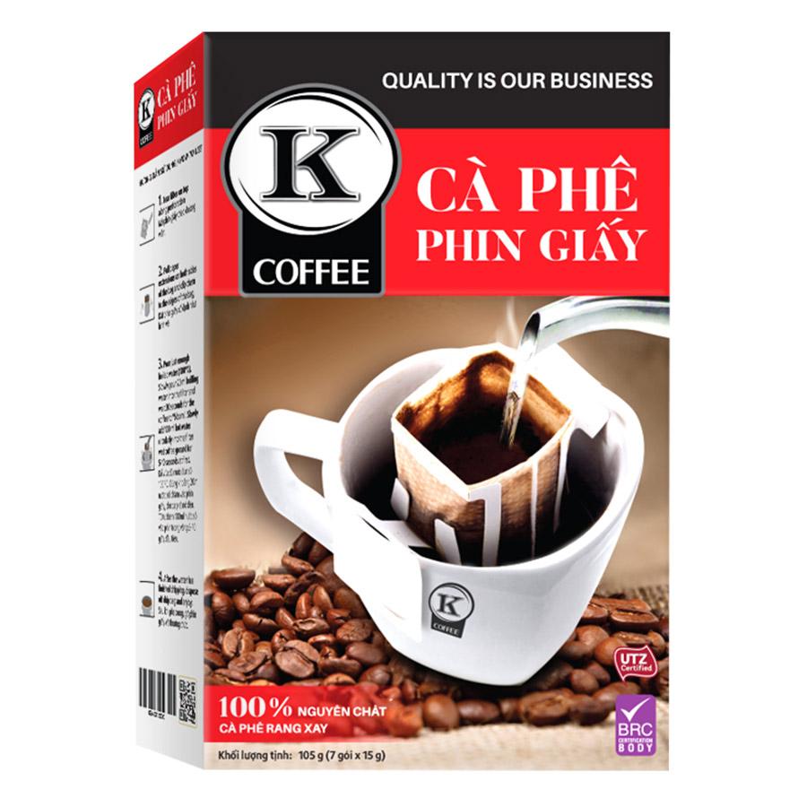 Cà Phê Túi Lọc K-Coffee Filter (105g / Hộp) - 921107 , 8936109120528 , 62_1919487 , 66000 , Ca-Phe-Tui-Loc-K-Coffee-Filter-105g--Hop-62_1919487 , tiki.vn , Cà Phê Túi Lọc K-Coffee Filter (105g / Hộp)