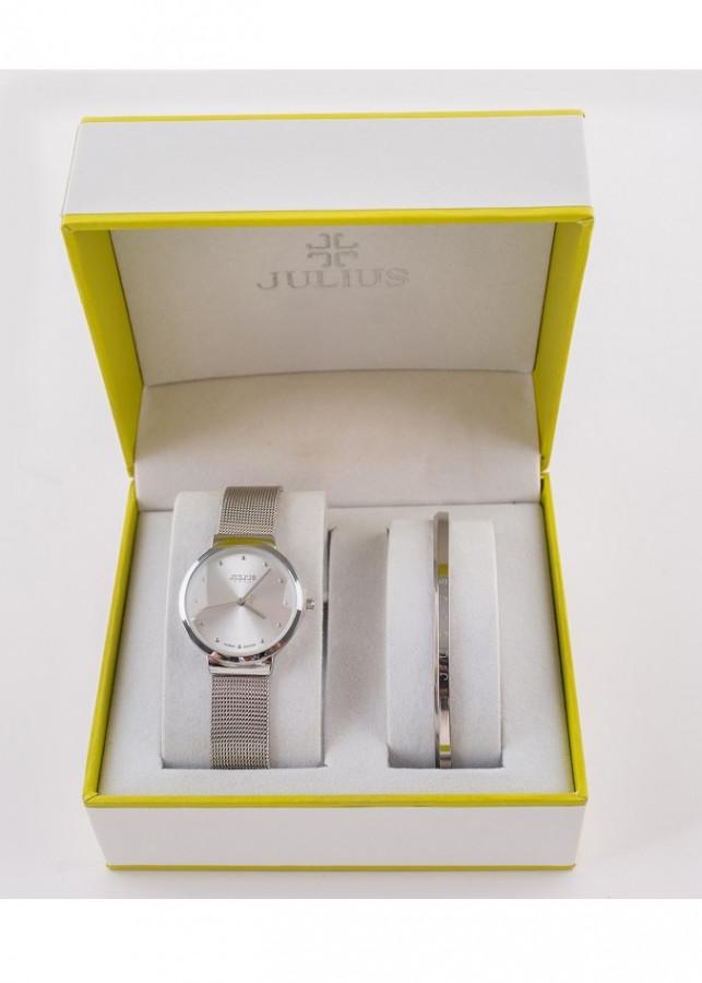 Combo đồng hồ nữ Julius và lắc tay nữ Julius BC-12