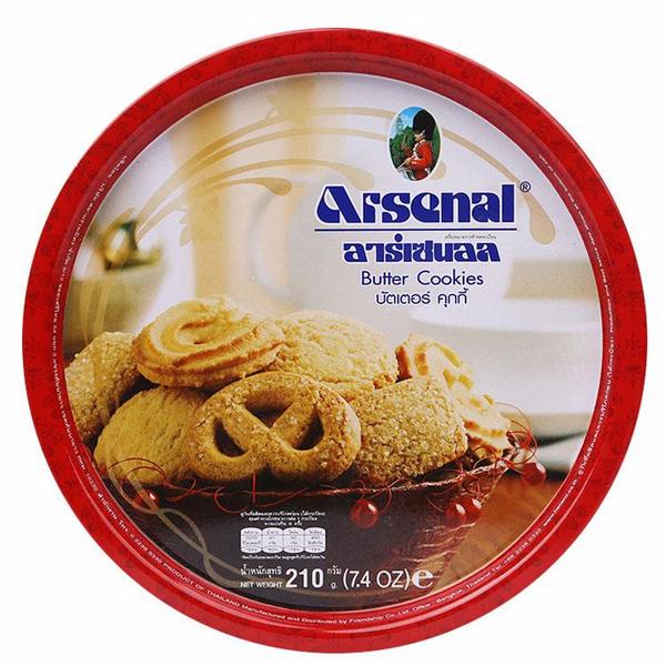 Bánh Quy Bơ Arsenal - Kiểu Đan (Mạch 210g)