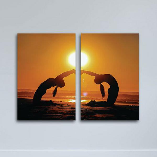 Tranh Gỗ MDF Yoga Và Sức Khỏe W1139