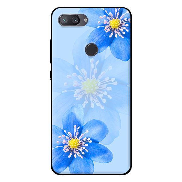 Ốp in cho Xiaomi Mi 8 Lite Hoa Lan Xanh - Hàng chính hãng