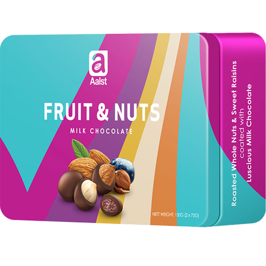 Socola Aalst Fruit  Nut hộp thiếc 150gr