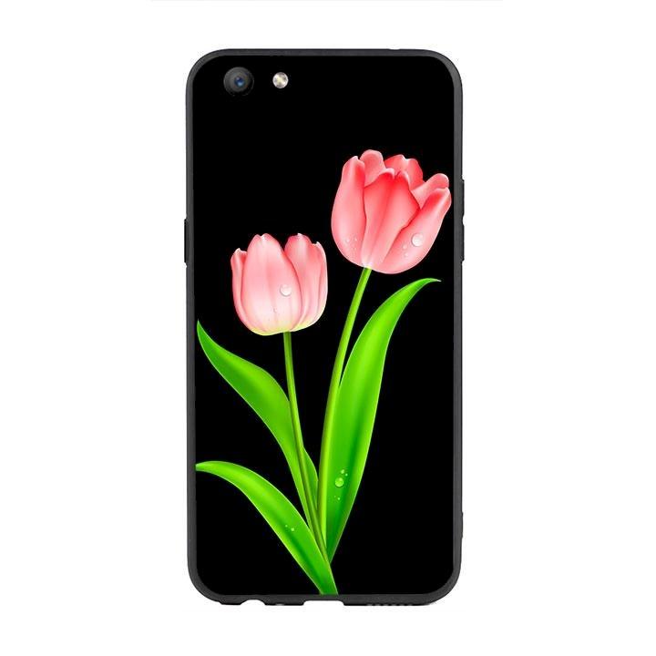 Ốp lưng viền TPU cho Oppo F3 - Hoa Tulip 01