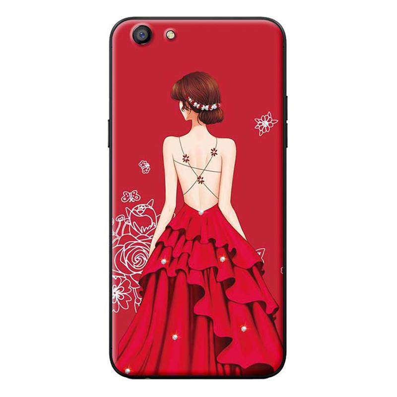 Ốp Lưng Dành Cho Điện Thoại Oppo Neo 9S Cô Gái Váy Đỏ Áo Dây