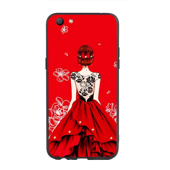 Ốp lưng nhựa cứng viền dẻo TPU cho điện thoại Oppo F3 - Girl 05