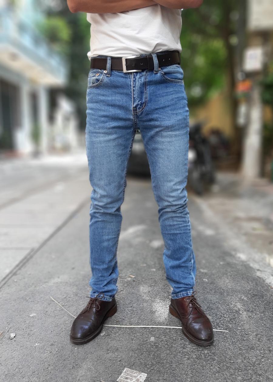 Quần jeans nam LE511 màu Xanh truyền thống