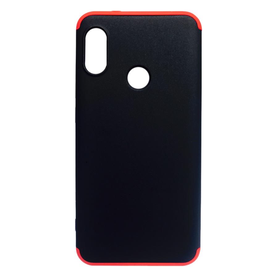 Ốp Lưng 360 Độ Dành Cho Xiaomi Mi A2 Lite - Đen Đỏ