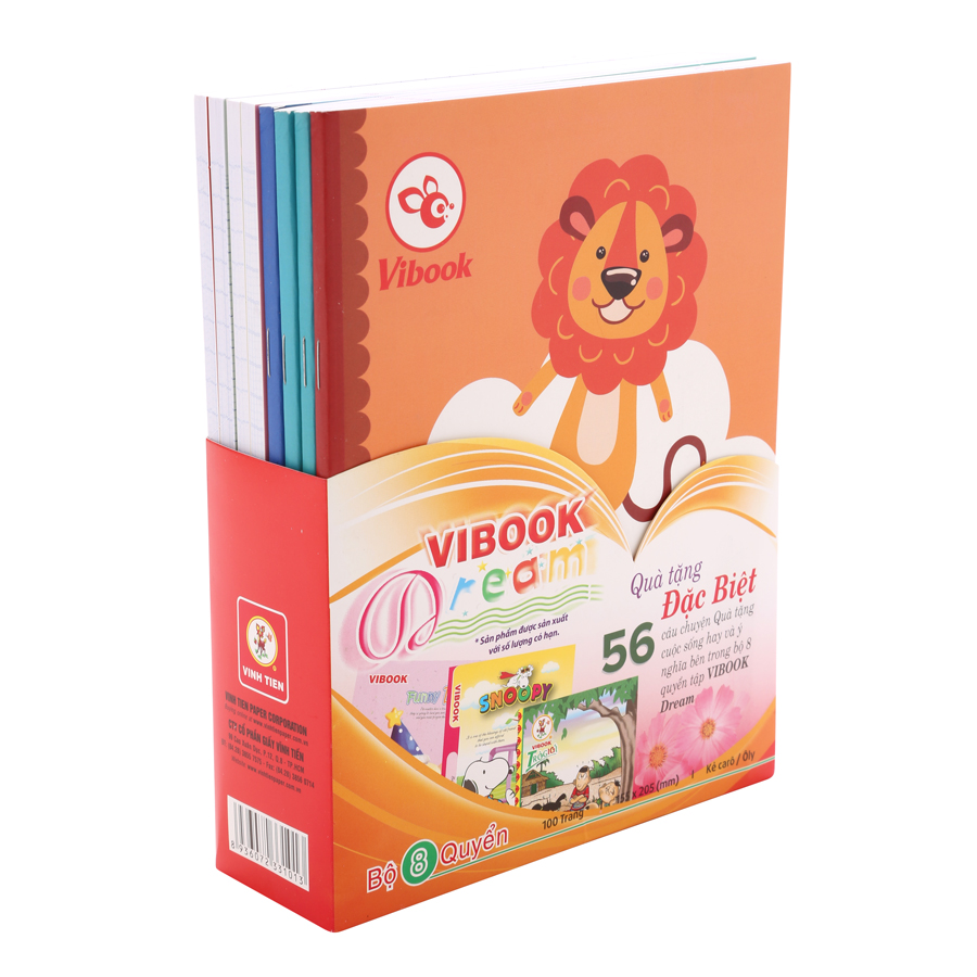 Lốc 8 Tập Vibook Dream Cute Animal T3O R-11 In Caro 100 Trang - 5984243 , 8936072331013 , 62_7857079 , 111000 , Loc-8-Tap-Vibook-Dream-Cute-Animal-T3O-R-11-In-Caro-100-Trang-62_7857079 , tiki.vn , Lốc 8 Tập Vibook Dream Cute Animal T3O R-11 In Caro 100 Trang