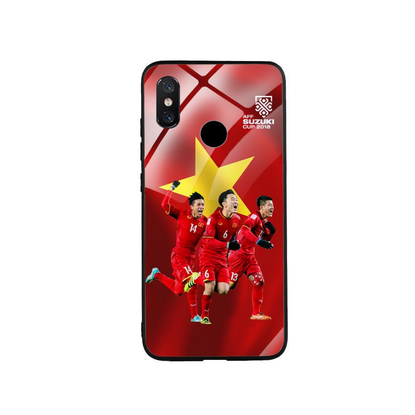 Ốp Lưng Kính Cường Lực cho điện thoại Xiaomi Mi 8 - AFF Cup 01