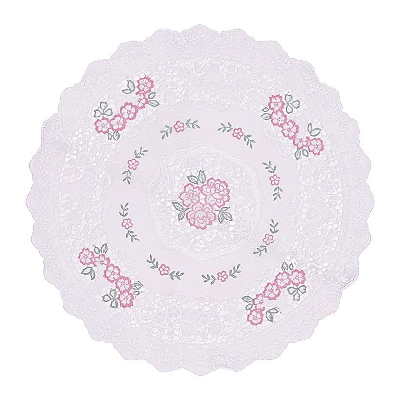 Khăn lót Towa trang trí hình tròn hoa mai 30cm của Nhật Bản