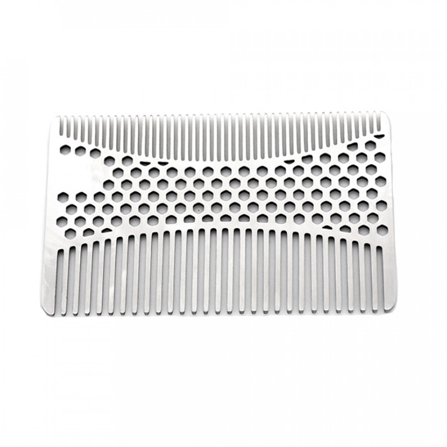 1pc Stainless Steel Mustache Comb Beard Comb For Men