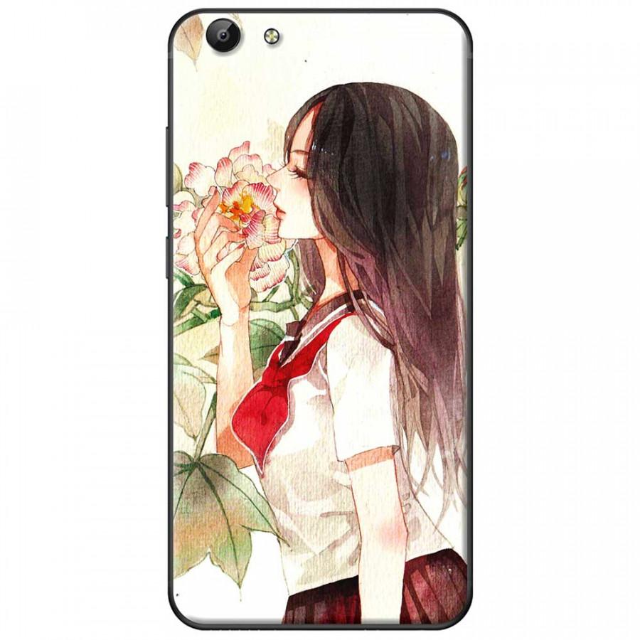 Ốp lưng dành cho Vivo Y69 mẫu Ngửi cành hoa