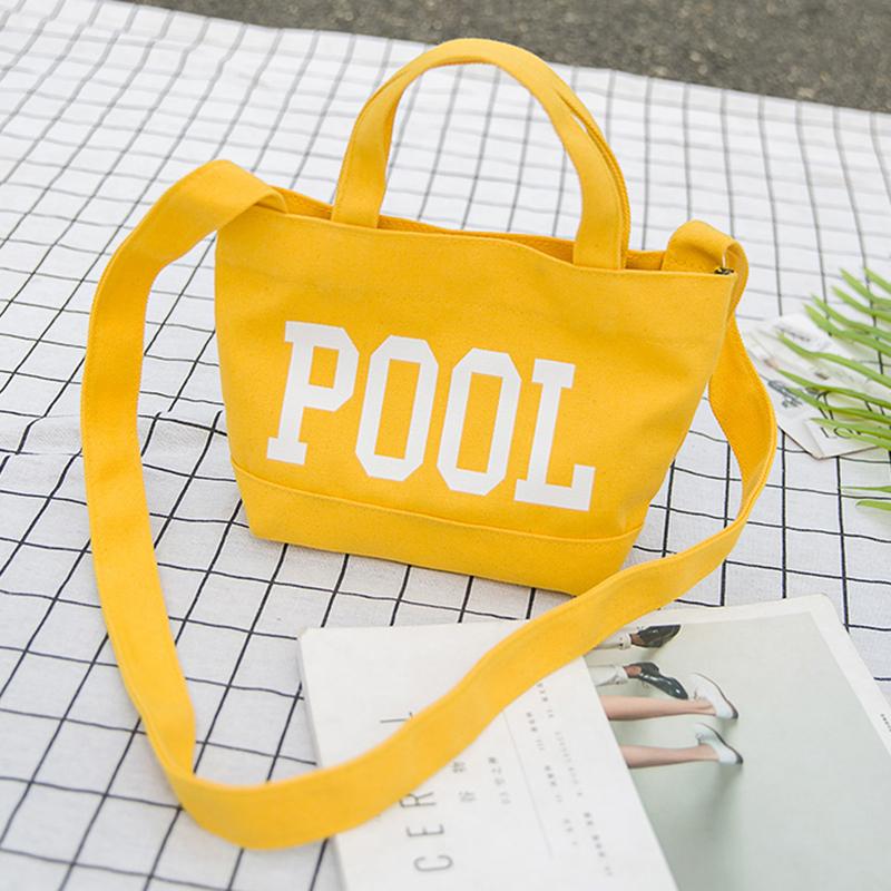 Women Crossbody Bag Chest Bag Letters Print Drop Handle Durable Casual Shoulder Bag