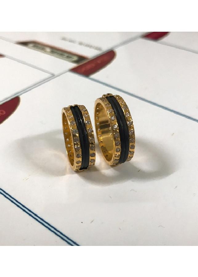 Nhẫn Đôi Vàng 2 Lông Voi Cực Đẹp Và Sang Trọng